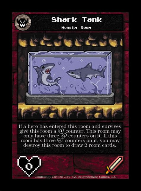 Shark Tank Gift Card - shark tank custom card brotherwise games boss monster community created cards