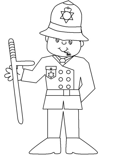 policeman coloring pages for kids coloring home