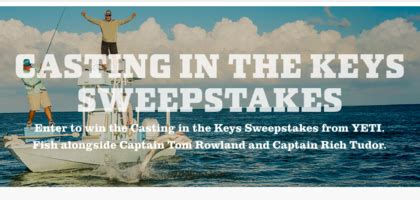 Car Key In Mail Sweepstakes - yeti casting in the keys sweepstakes sun sweeps