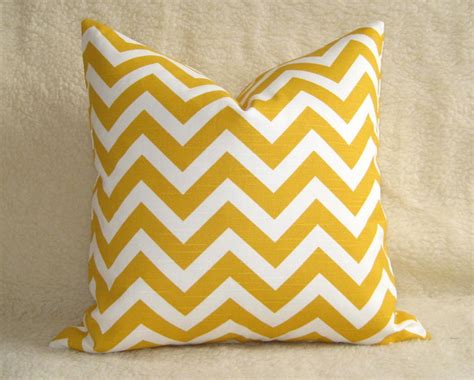 Etsy Designer Pillows by Outdoor Chevron Decorative Pillow Yellow White By