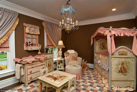 rose themed baby room as kate and william celebrate princess charlotte s birth