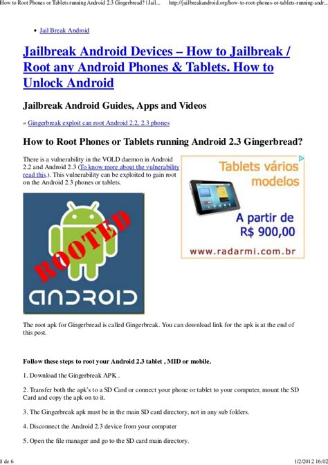 can you jailbreak an android how to root phones or tablets running android 2 3 gingerbread