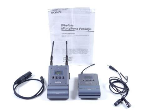 Mic Wireless Sony Ak 22 Uhf Microphone 2 Channel zoompoint sony uxt b1 urx p1 uhf wireless microphones mics