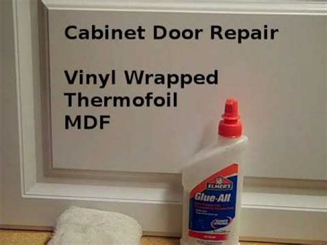 vinyl wrapped kitchens what you need to know dianella repair loose vinyl cabinet door edges youtube
