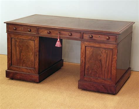 antique partners desk antique pedestal desk mahogany