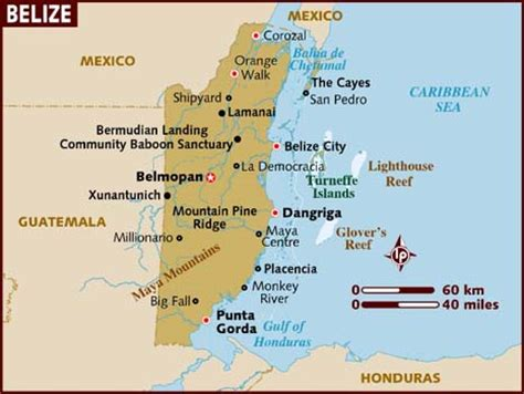 belize map south america map of belize