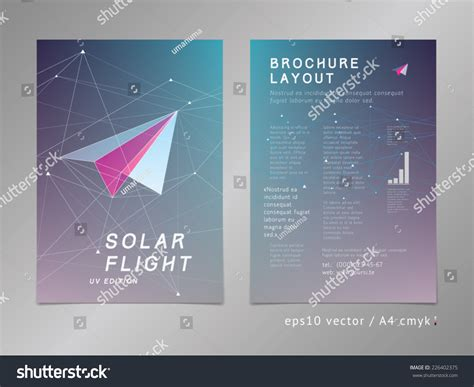 leaflet cover layout leaflet brochure cover page layout template stock vector