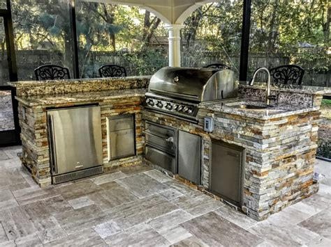 Kitchen Backsplash Creative Outdoor Kitchens Stone Creative Outdoor Kitchens