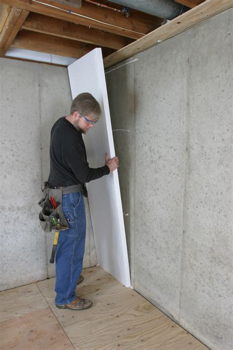 rigid foam insulation for basement walls how to insulate a basement wall greenbuildingadvisor