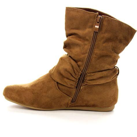 flat heel shoes for womens forever ga43 fashion calf flat heel side zipper