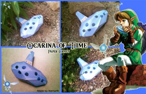 How To Make A Paper Ocarina - personal paper ocarina of time artist cubby