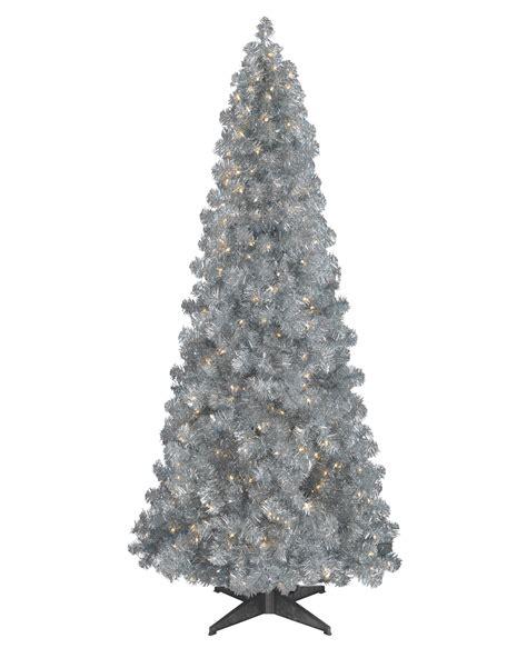 Ordinary Slim Christmas Trees Artificial Pre-lit Led #2: Silver-Artificial-Xmas-Tree-2.jpg
