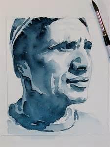 david lobenberg beautiful b w watercolor portrait studies