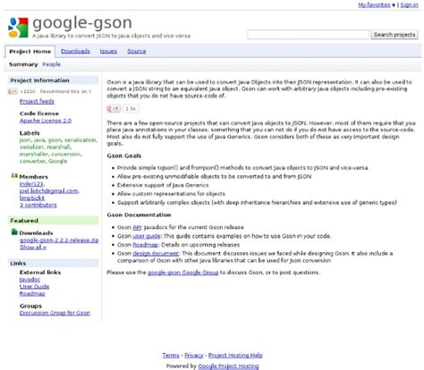 Gson Documentation gson a java library to convert json to java objects and