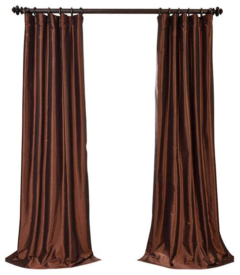 copper colored curtains copper brown blackout faux silk taffeta curtain single