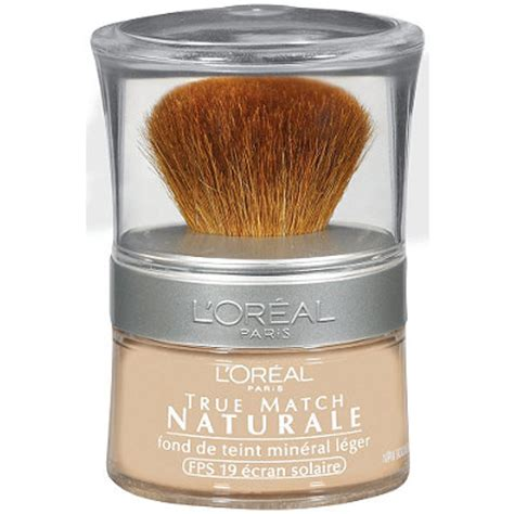 Loreal True Match Powder Foundation true match naturale powdered mineral foundation spf 19