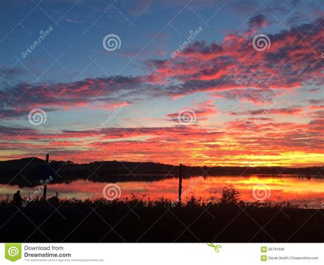 Sunset Clouds Stock Photo   Image: 65791906