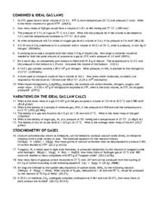 Ideal Gas Practice Worksheet Answers by Worksheet Ideal Gas Worksheet Answers Caytailoc Free