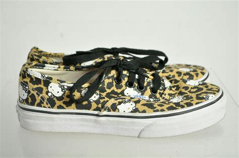 animal print athletic shoes vans canvas animal print hello print lace up