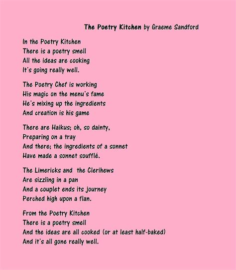 poems pictures grae s picture poems no 2 the poetry kitchen graeme