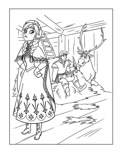 frozen coloring pages anna and kristoff family frozen elsa anna kristoff and olaf coloring page frozen