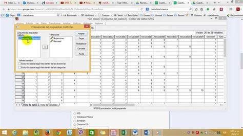 manual de spss 20 codificar respuestas multiples usando spss viyoutube