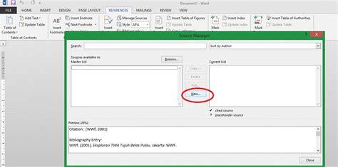 langkah membuat daftar pustaka dari internet cara membuat daftar pustaka dengan ms word irvan f