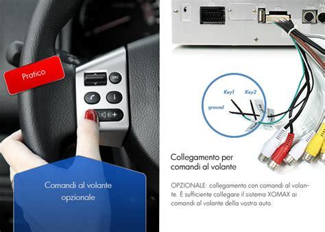 autoradio comandi al volante collegamento ai comandi al volante