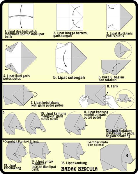 membuat origami sederhana untuk anak paud cara membuat origami badak lucu untuk anak