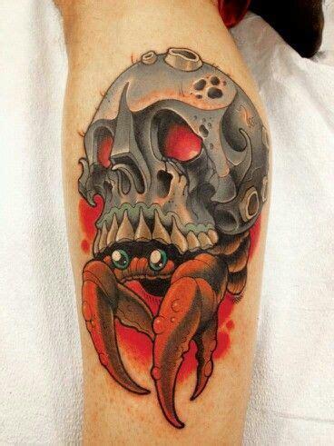 hermit crab tattoo image result for skull hermit crab flesh inked
