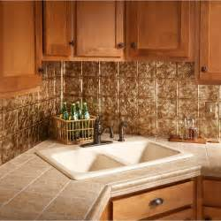 decorative kitchen backsplash 18 in x 24 in traditional 1 pvc decorative backsplash panel in bermuda bronze b50 17 the