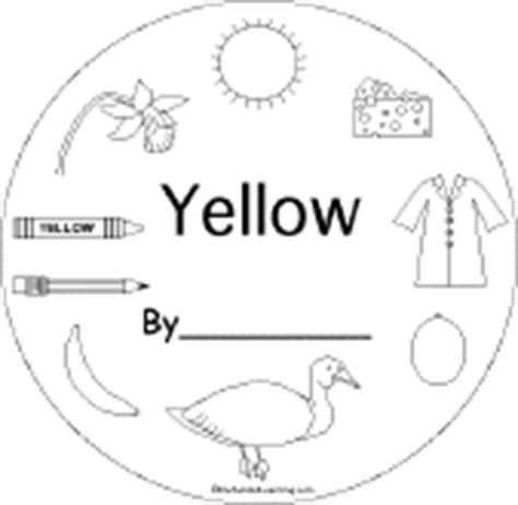 coloring pages yellow things yellow things enchantedlearning com