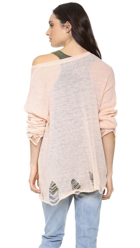 pink sweater lady liberty mutual wildfox statue of liberty lennon sweater in pink lyst