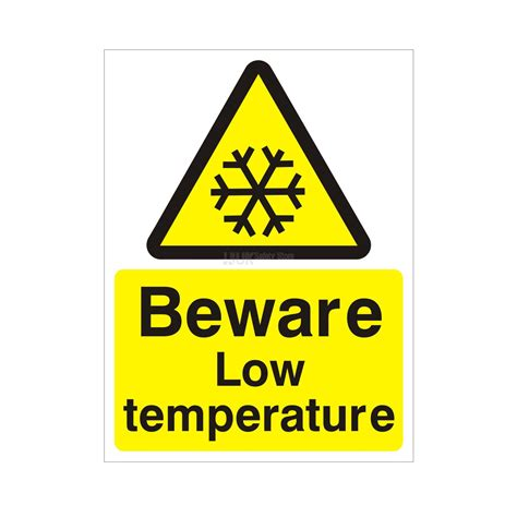 Home Kitchen Aid by Beware Low Temperature Health And Safety Sign Ssd