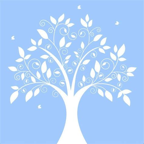 tree silhouette wall sticker wall decal tree wall decal white silhouette tree nursery wall de