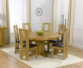 oak round dining table 6 chairs gallery