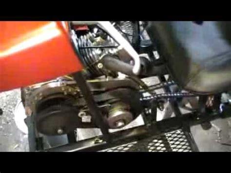 comet cvt go kart clutch demo youtube