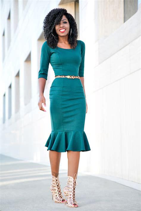 green frill midi dress style pantry bloglovin