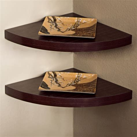 Corner Wall Mounted Shelf by Danya B Xf11115 2 Large Corner Wall Mounted Shelf Set Of