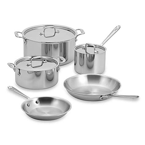 bed bath and beyond pots and pans all clad stainless steel 8 piece cookware set and open