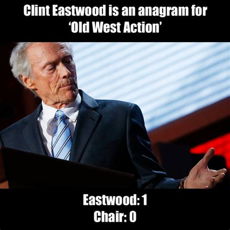 Clint Eastwood Chair Meme - eastwood 1 chair 0 clint eastwood s empty chair speech