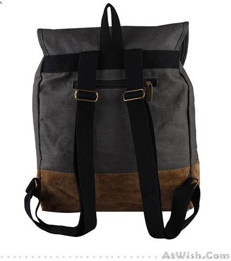 Fashion Casual Backpack Khaki fashion casual retro canvas backpack fashion