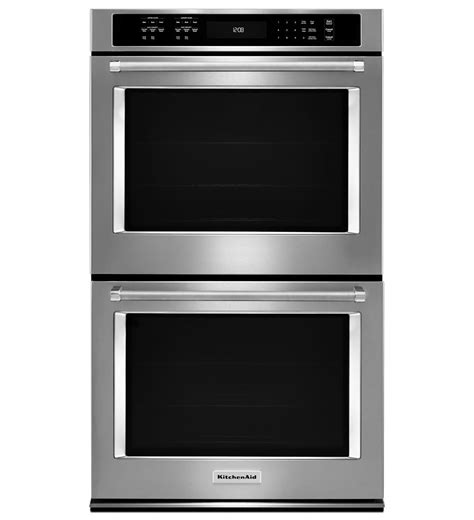 kitchenaid 174 30 quot double wall oven with even heat true