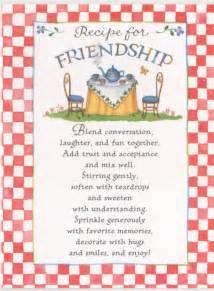 recipe for friendship template october november