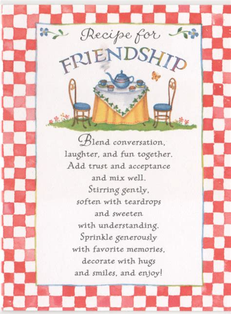 recipe for friendship cute things and ideas pinterest