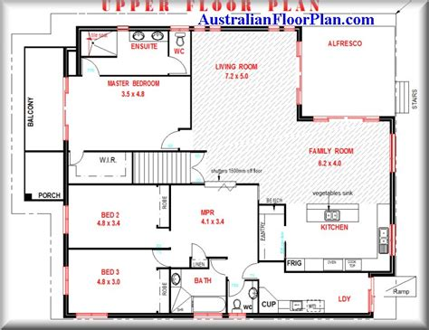 australian home design two storey 4 bed room house plan for sloping land