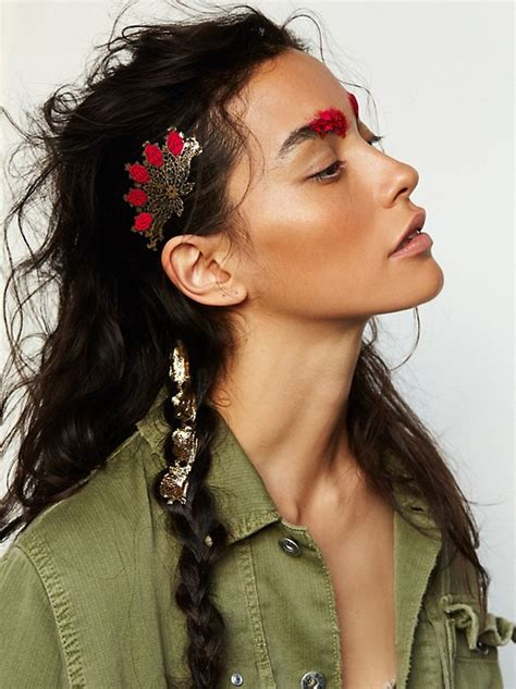 hair tattoo online metallic hair tattoo at free people clothing boutique