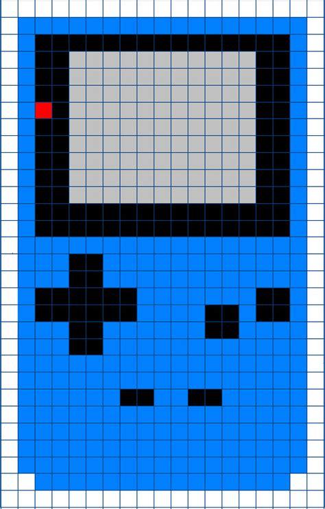Gameboy Pattern boy color cross stitch pattern by moonprincessluna on