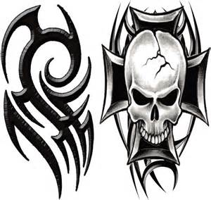 macho tribal tattoo temporarytattoo tribal skull t4aw