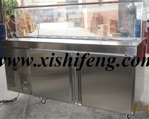 counter top salad bar xsflg salad refrigerated counter table top salad bar